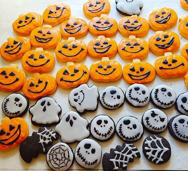 かぼちゃ型のハロウィンクッキー
