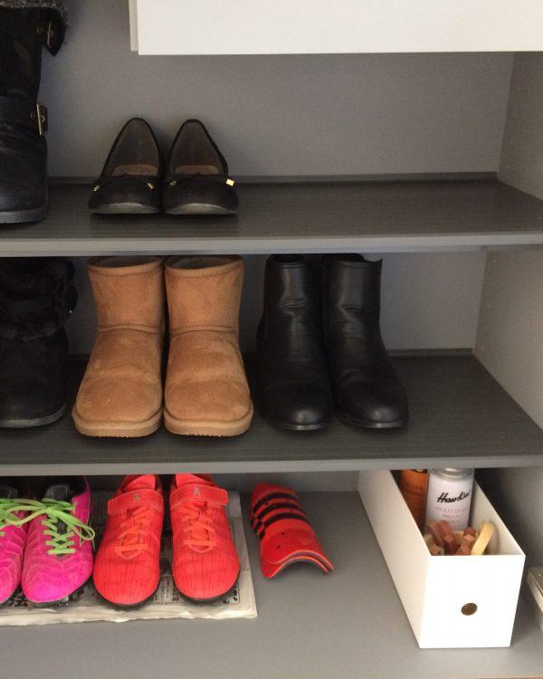 靴収納スペースにあると安心なシューケアセット
