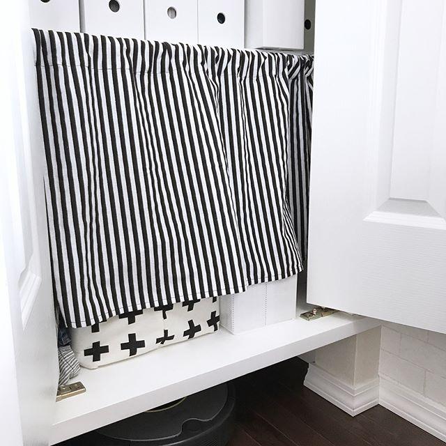 トイレの目隠し実践例|突っ張り棒2