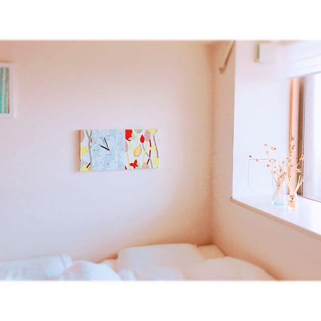 北欧テキスタイル活用例《ベッドルーム》3
