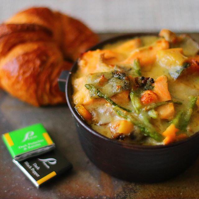 野菜たっぷり!サーモンとかぼちゃのグラタン