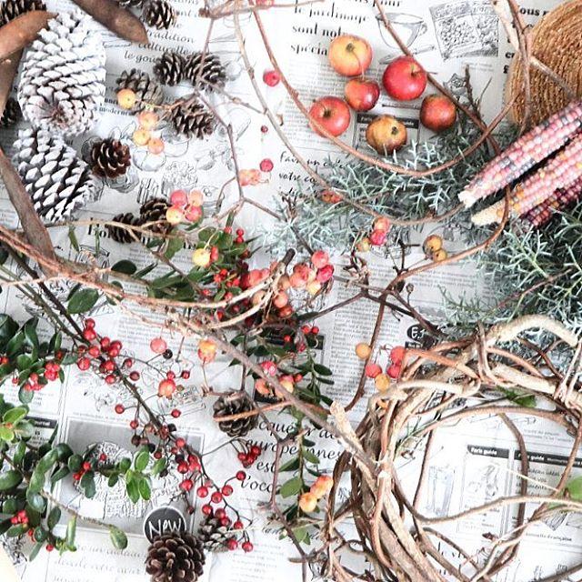 簡単手作りクリスマスリース【作り方と材料】3
