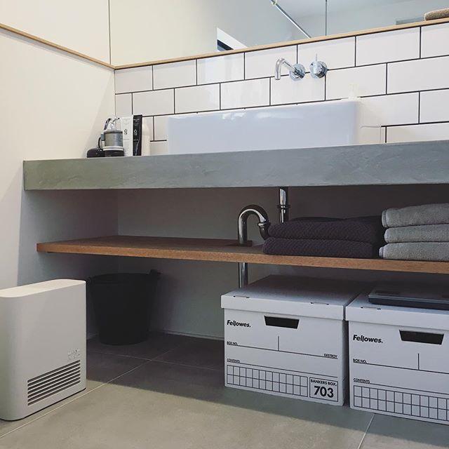 キッチン&洗面スペースにコンクリート2