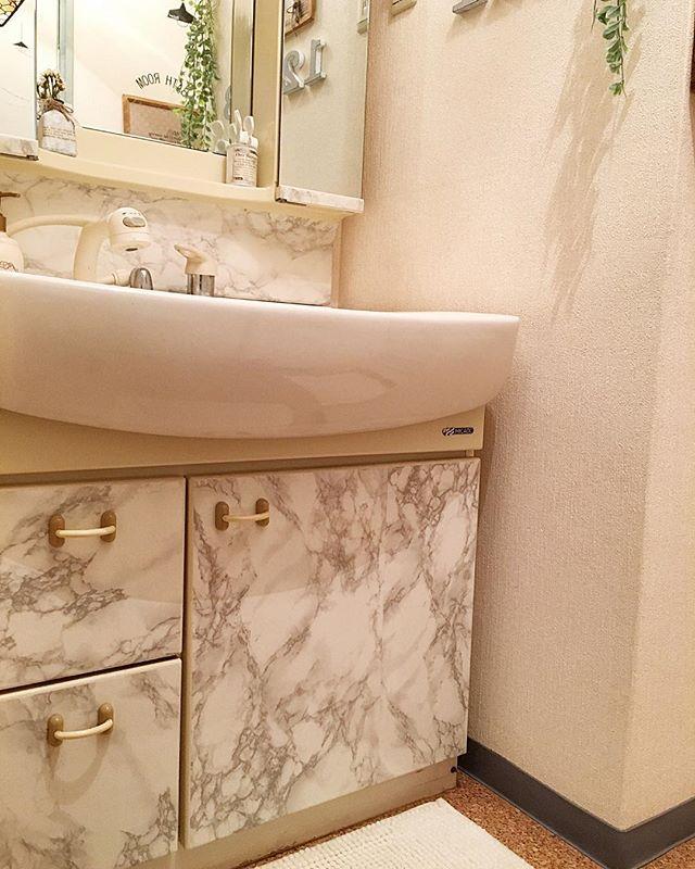 洗面台をセルフリノベーション