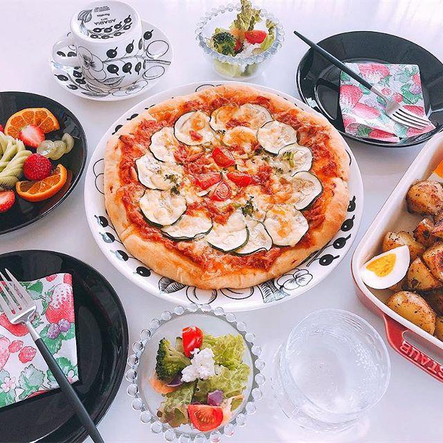 美味しいレシピ!ズッキーニとツナのピザ