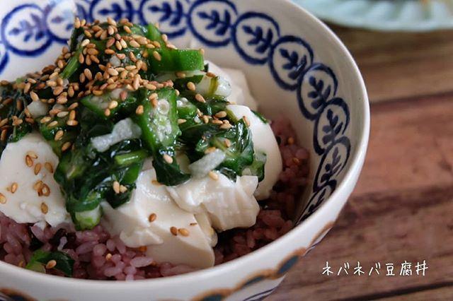 食欲のない日に!ネバネバ豆腐丼