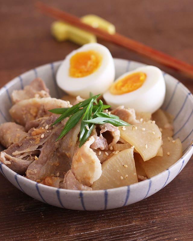 レンジで簡単調理!豚バラ味噌大根