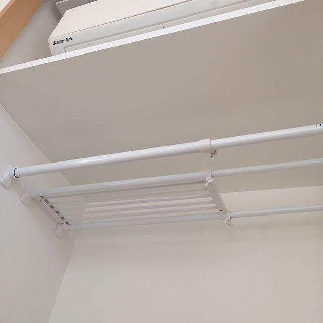 突っ張り棒を数種類使う押入れ収納アイデア