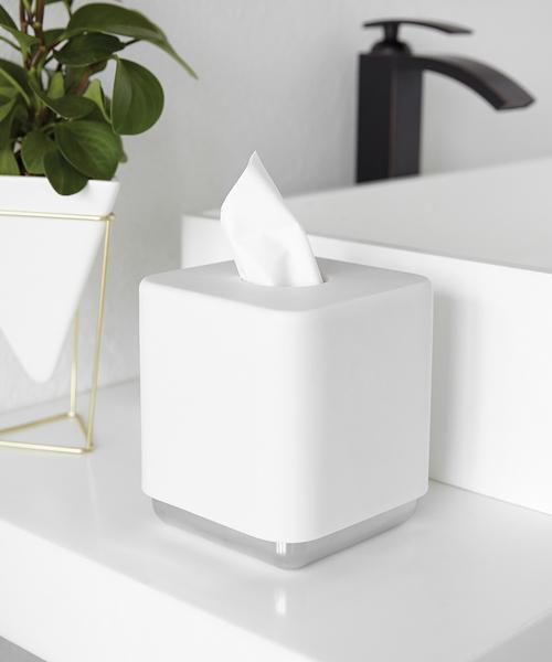 [entre square] umbra/ジュニップ ティッシュボックス クロム×ホワイト