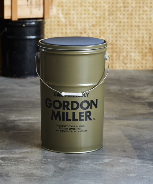 [JACK & MARIE] GORDON MILLER ペール缶 収納型スツール 27L
