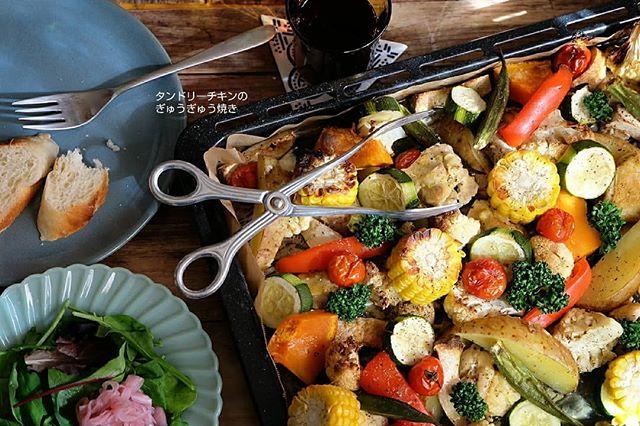 簡単料理!タンドリーチキンのぎゅうぎゅう焼き