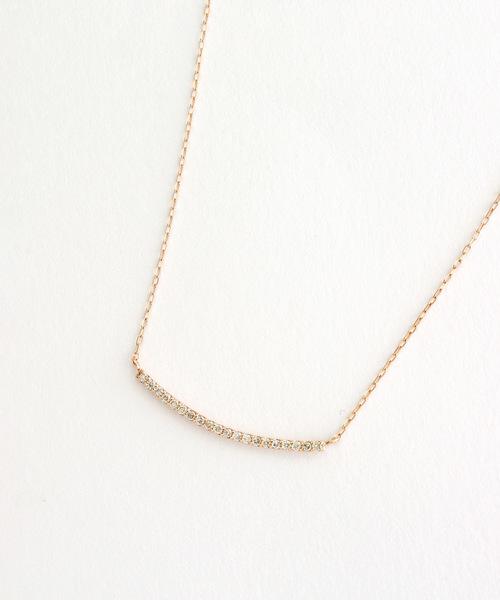 [L&Co.] K10 ダイヤモンド マイクロセッティング ネックレス
