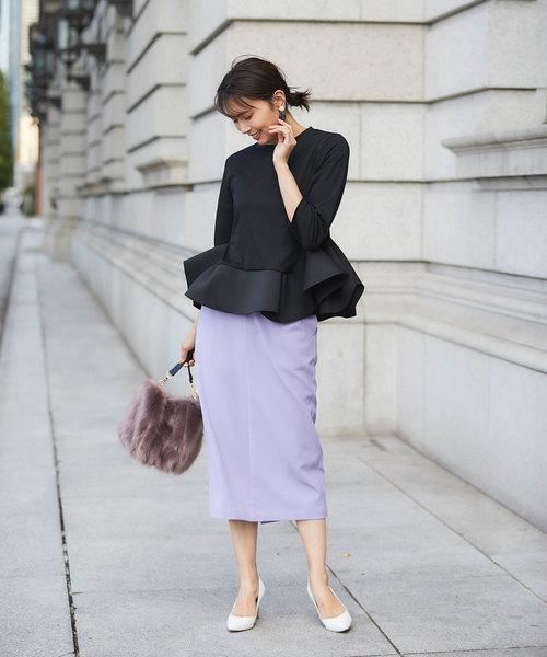 ファッションカットソー×タイトスカート