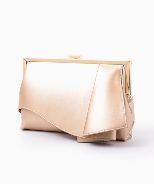 [GIRL] 【結婚式・お呼ばれ対応パーティーバッグ】ラッフルデザインがま口2wayクラッチバッグ・パーティーバッグ