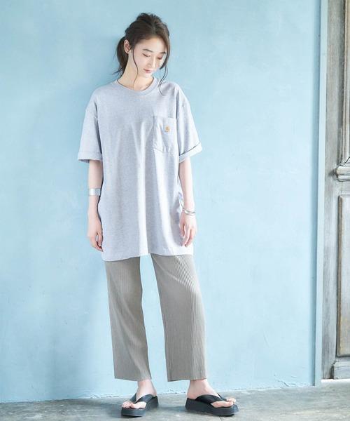 [MONO-MART] carhartt(カーハート) ビッグシルエット ポケット半袖 ロゴ Tシャツ Workwear Pocket 1/2 Sleeve T-Shirts