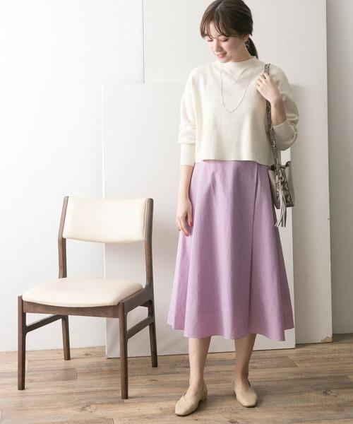[URBAN RESEARCH] ラップフレアスカート