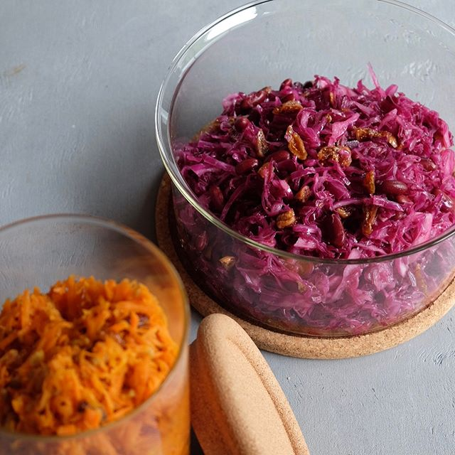 オムライスに合う!紫キャベツのマリネサラダ
