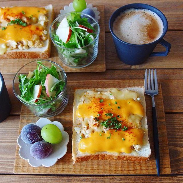 オープンサンドのおしゃれレシピ☆朝食4