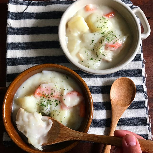 レンジで簡単レシピ!クリームシチュー