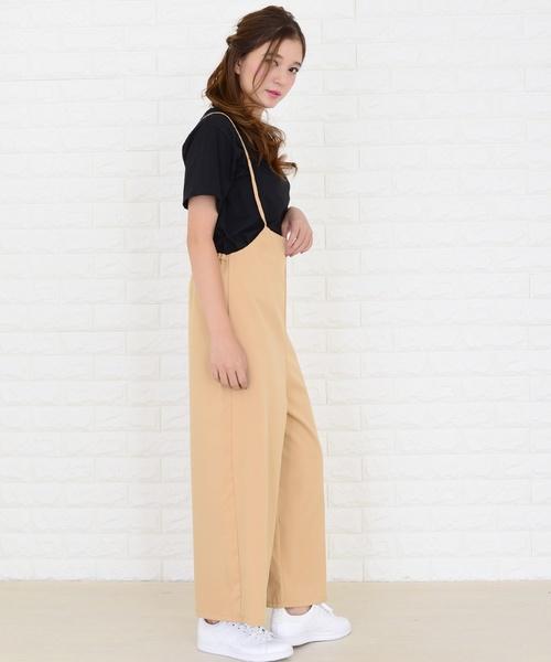 [Lace Ladies] ガウチョパンツサロペット オールインワン・パンツ