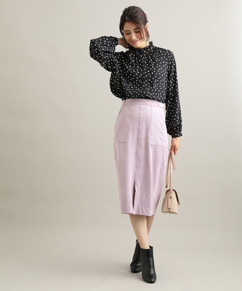 [ViS] ライトエコスエードタイトスカート