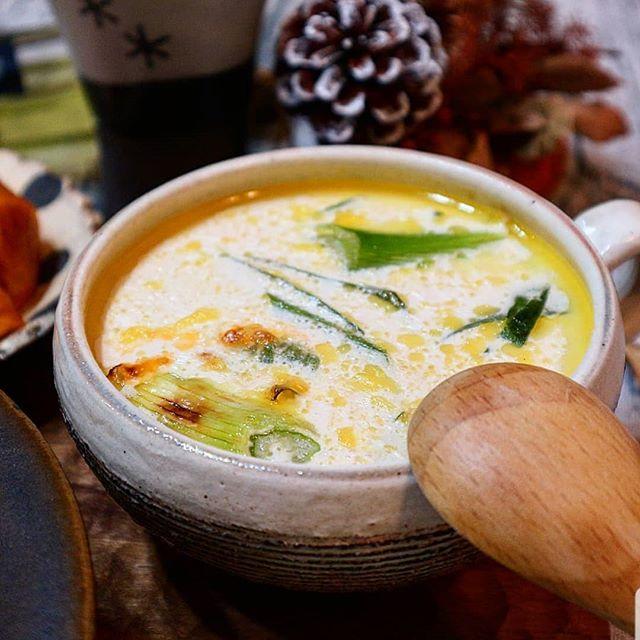 パエリアに合う!クリームチーズスープ