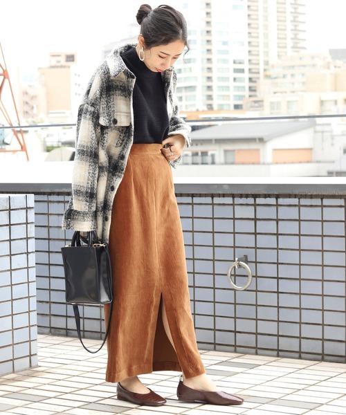 [FREAK'S STORE] 【WEB限定】太畝コーデュロイスリットスカート