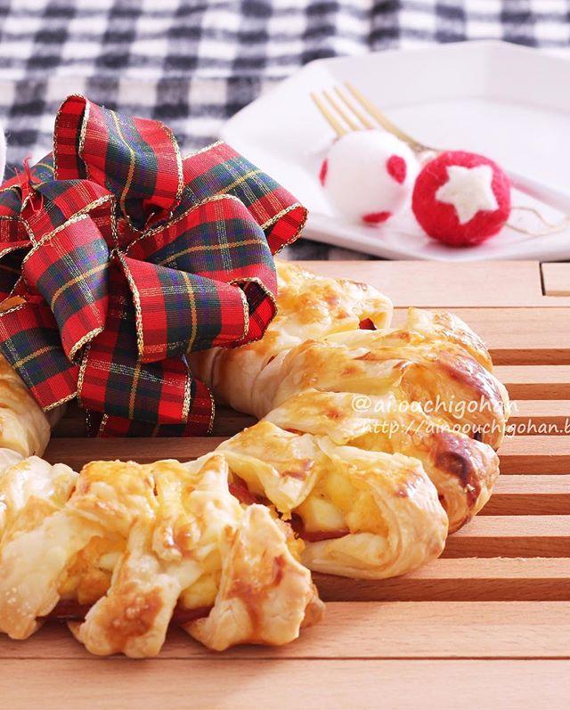 可愛いディナー!手作りで卵クリスマスリースパイ