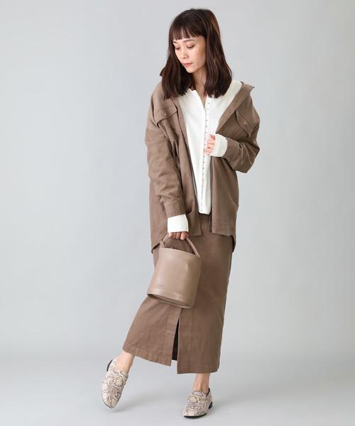 [FREAK'S STORE] 【WEB限定】コーデュロイタイトロングスカート