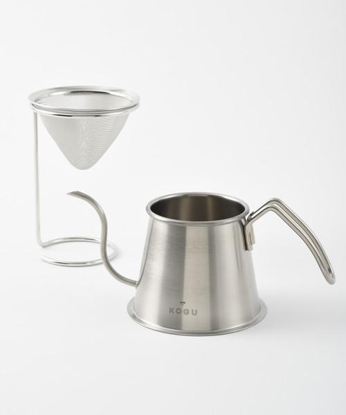 [IDEA SEVENTH SENSE] 茶考具 2点セット(ドリッパー&スタンド・ツードリップポット)