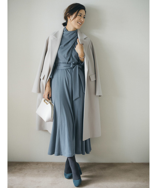 [ROPE'] 【Naoko Okusa × ROPE'】スムースドレープドレス