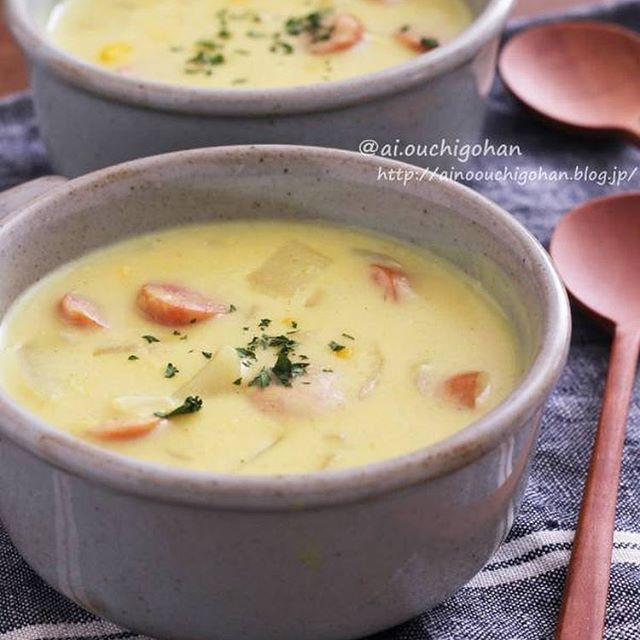 キャンプ料理!冬にはカレークリームスープ
