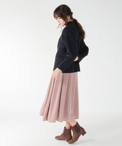 ピンクのギャザースカート
