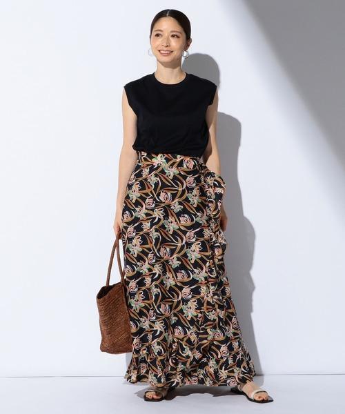 [BEAMS WOMEN] MARIHA / 別注 春の夕日のスカート