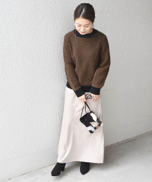 大阪|12月服装|白スカートコーデ