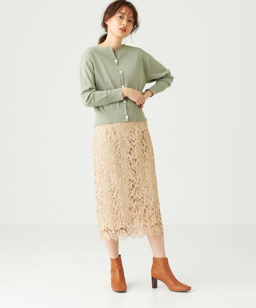 [EMMEL REFINES] ◆FC ケミカルレース Iラインスカート【WEB限定サイズあり】