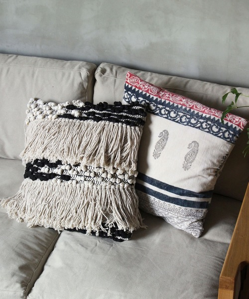 [a.depeche] Macrame cushion cover long hair / クッションカバー