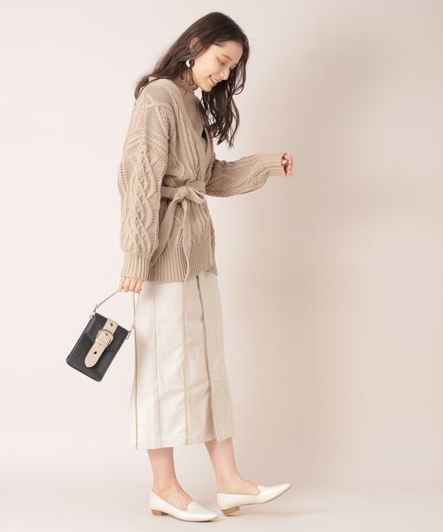 [mysty woman] パイピングデザインスカート 868106