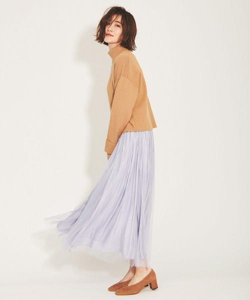 [The Virgnia] グロッシーチュール2wayスカート