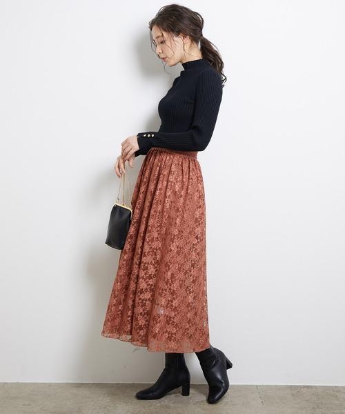 [ROPE' PICNIC] 【WEB限定】リバーシブルレーススカート