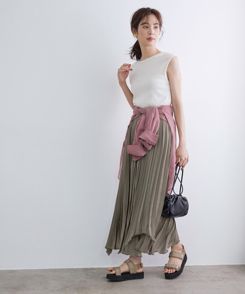 [ROPE'] 【ドラマ着用】アシンメトリープリーツスカート