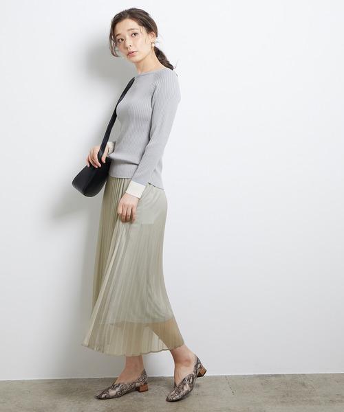 [ROPE' PICNIC] ラメプリーツスカート