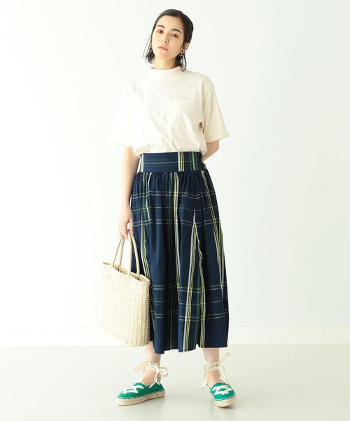 [BEAMS WOMEN] BEAMS BOY / ビッグ タータン チェック スカート