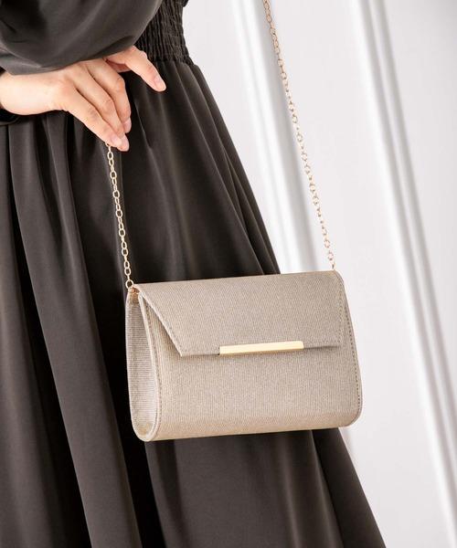 華やかなラメフラップミニチェーンバッグ