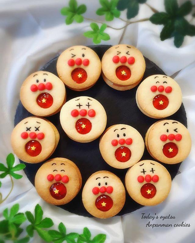 子供に人気!可愛いアンパンマンクッキー