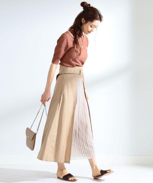[BEAMS WOMEN] Ray BEAMS / プリーツ キリカエ フレア スカート