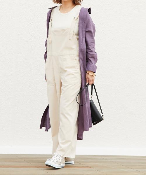 【11月下旬服装】サロペットで大人カジュアルコーデ