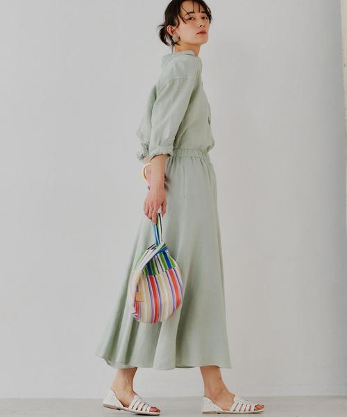 [green label relaxing] [コルトレイクリネン] SC マーメイドフレア スカート
