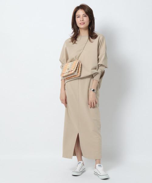[BABYLONE] 【MICA&DEAL】ダブルフロントスリットスカート