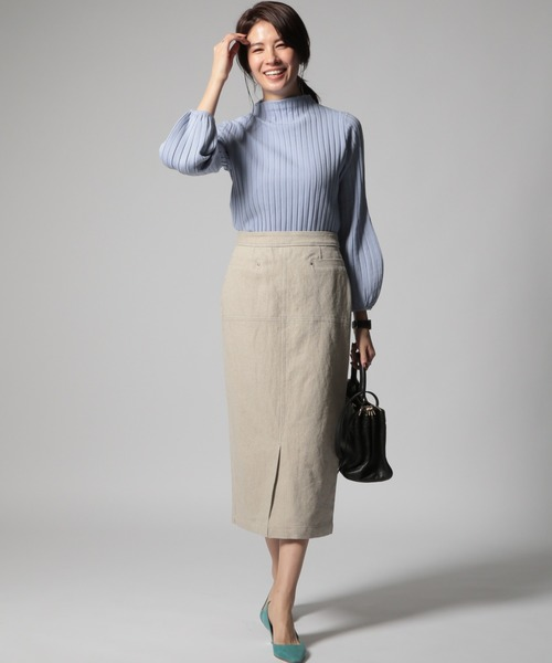 [BABYLONE] 切り替えタイトスカート